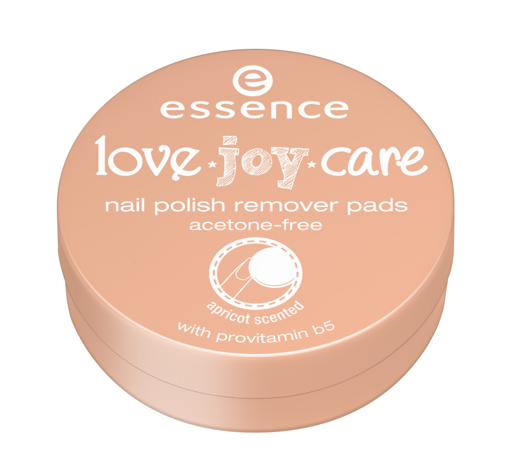 ess. love.joy.care nail polish remover pads