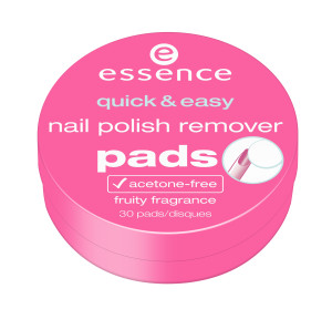 ess. quick & easy nail polish remover pads
